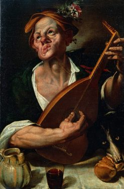 Lute Player | Bartolomeo Passarotti | Oil Painting