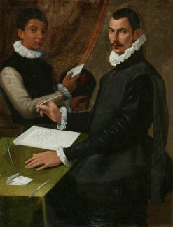 Domenico Giuliani and His Servant | Bartolomeo Passarotti | Oil Painting