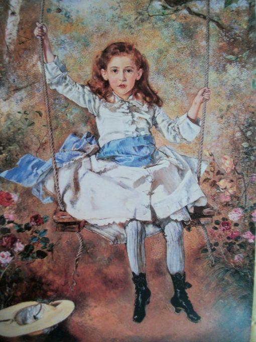 Girl on a Swing   Anton Romako   Oil Painting