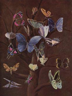Butterflies | Wilhelm von Kaulbach | Oil Painting