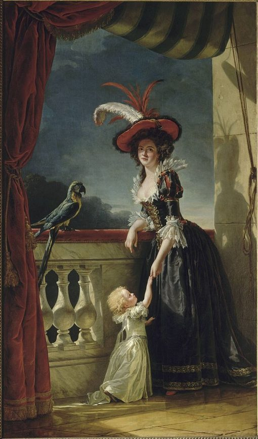 Portrait of Louise-Elisabeth of France with Her Son   Adelaïde Labille-Guiard   Oil Painting