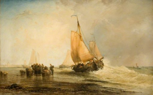 On the Dutch Coast   James Webb   Oil Painting