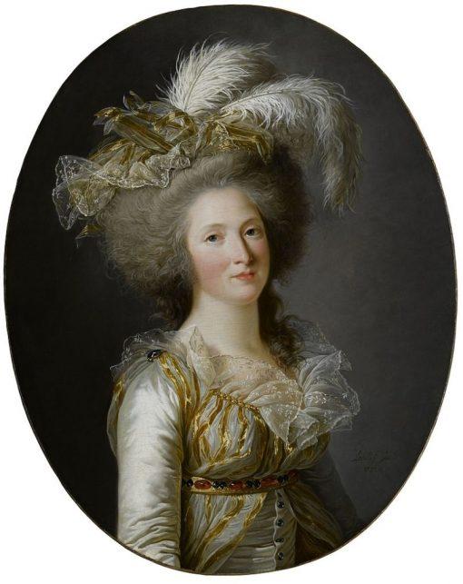 Portrait of a Elisabeth Philippine Marie Helène de Bourbons   Adelaïde Labille-Guiard   Oil Painting