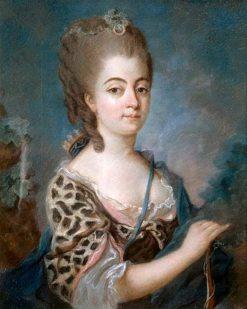 Portrait of Marie-Aurore de Saxe | Adelaïde Labille-Guiard | Oil Painting