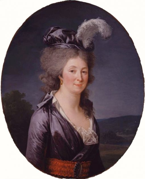 Portrait of the Marquise de Lafayette   Adelaïde Labille-Guiard   Oil Painting