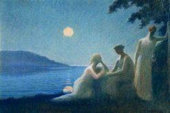 Sous un Rayon de Lune | Alphonse Osbert | Oil Painting