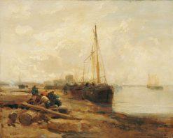 River Scene | James Webb | Oil Painting