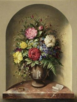 Cultivated Flowers   Albert Durer Lucas   Oil Painting