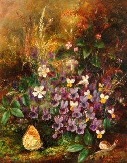 Violets | Albert Durer Lucas | Oil Painting