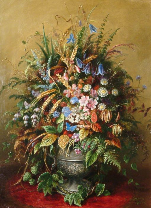 Vase of Flowers | Albert Durer Lucas | Oil Painting