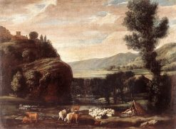 Landscape with Shepherds and Sheep | Pietro Paolo Bonzi | Oil Painting