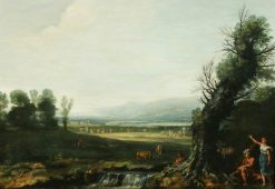 Landscape with Erminia and the Shepherds | Pietro Paolo Bonzi | Oil Painting