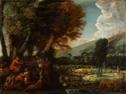 Landscape with Saint John the Baptist Preaching | Pietro Paolo Bonzi | Oil Painting