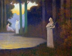 Lyricism in the Forest | Alphonse Osbert | Oil Painting
