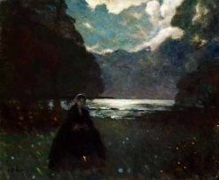 Moonlight Promenade | Pyotr Nilus | Oil Painting