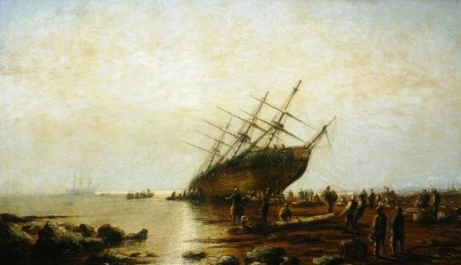 Ship Aground | James Webb | Oil Painting