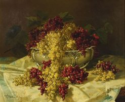 Still Life with Red and White Currants   Edward Chalmers Leavitt   Oil Painting
