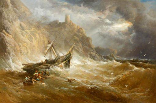 Shipwreck   James Webb   Oil Painting
