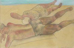 On the Beach | Boris Grigoriev | Oil Painting