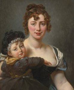 Portrait of Francoise Simonnier and her Daughter | Antoine-Jean Gros | Oil Painting