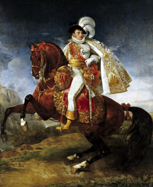 Equestrian Portrait of Jerome Bonaparte | Antoine-Jean Gros | Oil Painting