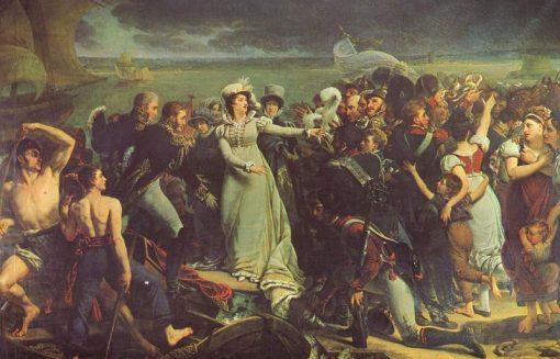 Embarkation of Madame dAngoulême | Antoine-Jean Gros | Oil Painting