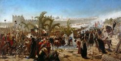 Crown Prince Friedrich Wilhelm of Prussia Enters Jerusalem in 1869 | Wilhelm Gentz | Oil Painting