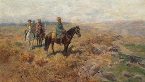 Riders in the Mountains | Franc Alekseevi? Rubo | Oil Painting