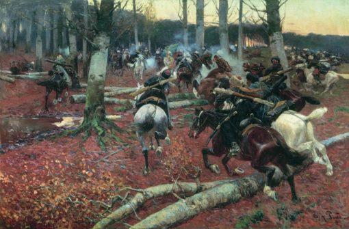 Caucasian Reconnaissance   Franc Alekseevi? Rubo   Oil Painting