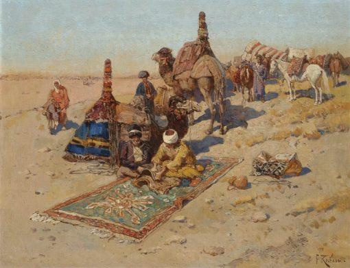 Scene in the Caucasus | Franc Alekseevi? Rubo | Oil Painting