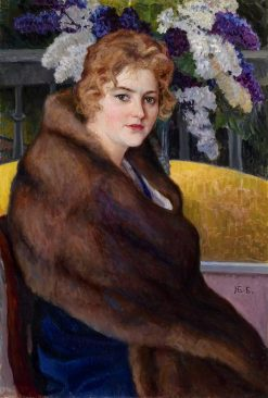 Portrait of Maria Emelianova | Nikolai Petrovich Bogdanov-Belsky | Oil Painting