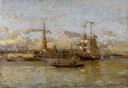 View of St.Petersburg | Alexander Beggrov | Oil Painting