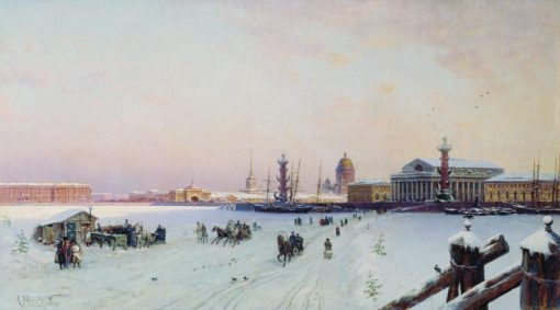 A View of St. Petersburg | Alexander Beggrov | Oil Painting