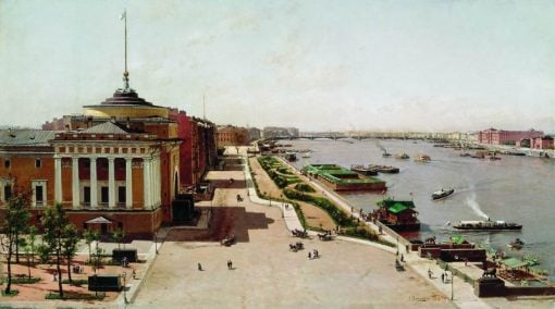 A View of the Neva from the Winter Palace | Alexander Beggrov | Oil Painting