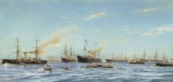 Ships Built at the Baltic Shipyard | Alexander Beggrov | Oil Painting
