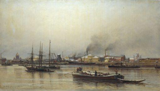 The Neva Embankment | Alexander Beggrov | Oil Painting