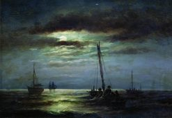 Night on the River | Alexander Beggrov | Oil Painting