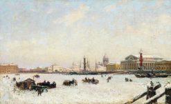 St. Petersburg in Winter | Alexander Beggrov | Oil Painting