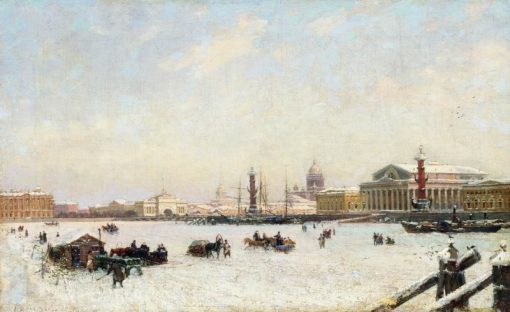 St. Petersburg in Winter | Alexander Beggrov | Oil Painting