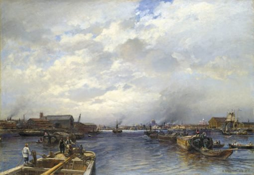 Approach to St. Petersburg on the Neva | Alexander Beggrov | Oil Painting