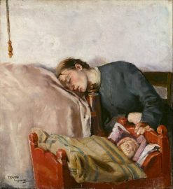 Mother and Child | Christian Krohg | Oil Painting