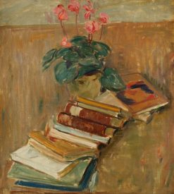 Still life with flowers and books | Karl Isakson | Oil Painting