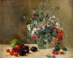 Still Life with Flowers and Fruit | Anna Munthe-Norstedt | Oil Painting