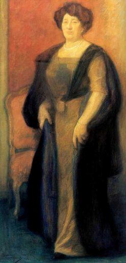 Portrait of Anna Vysotskaya | Leonid Osipovich Pasternak | Oil Painting