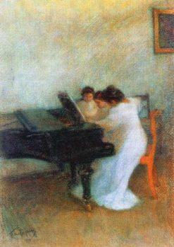 Music Lesson | Leonid Osipovich Pasternak | Oil Painting