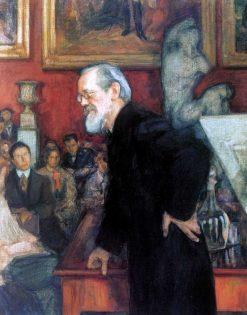 Portrait of Historian Vasily Klyuchevsky | Leonid Osipovich Pasternak | Oil Painting