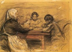 Playing Dice | Leonid Osipovich Pasternak | Oil Painting