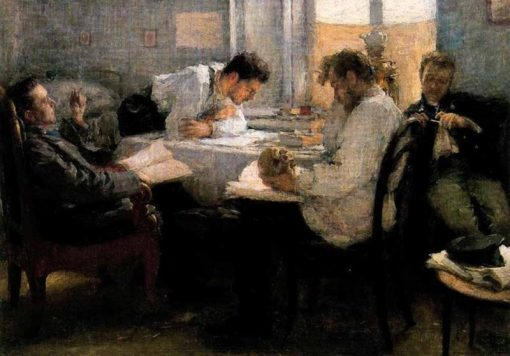 The Night before the Exam | Leonid Osipovich Pasternak | Oil Painting