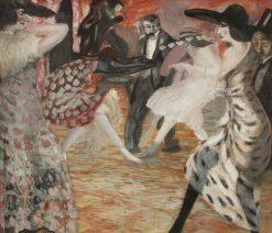 At the Ball | Boris Grigoriev | Oil Painting
