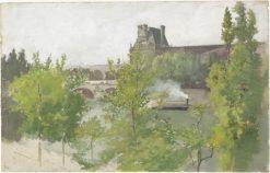 Louvre | Arthur B. Davies | Oil Painting